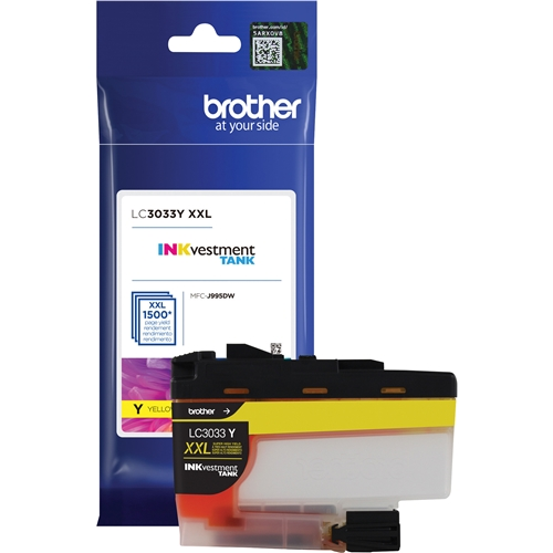 Brother LC3033YS INKvestment OEM Ink Cartridge High Yield