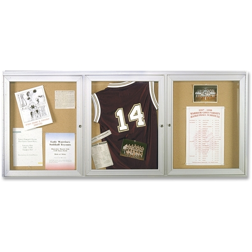 Ghent Manufacturing, Inc Ghent 3-Door Enclosed Indoor Bulletin Board
