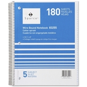 Sparco Products Sparco Quality Wirebound 5-Subject Notebook