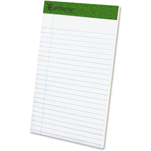 TOPS Recycled Perforated Jr. Legal Rule Pads