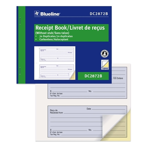 Dominion Blueline, Inc Blueline Bilingual Receipt Forms Book