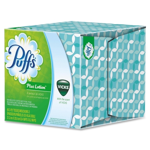 Procter & Gamble Puffs Plus Lotion with the Scent of Vicks