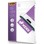 Fellowes Glossy Pouches - Menu, 3 mil, 50 pack