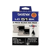 Brother LC51 Black 2pk (LC-51 Black 2pk) OEM Ink Cartridge
