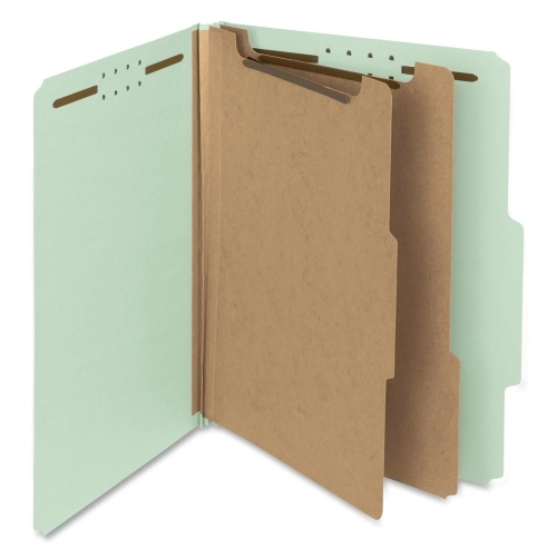 Smead Manufacturing Company Smead 14023 Gray/Green 100% Recycled Pressboard Colored Classification Folders