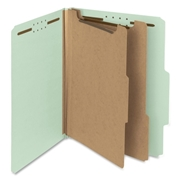 Smead 14023 Gray/Green 100% Recycled Pressboard Colored Classification Folders
