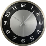 "Artistic Products, LLC Timekeeper 11.5"" Round Wall Clock,Brushed Met"