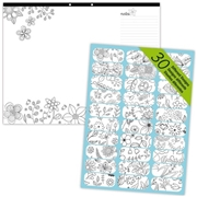 Dominion Blueline Blueline DoodlePlan Colouring Desk Pad