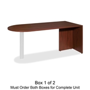 Lorell Essentials Peninsula Desk Box 1/2