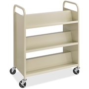 Safco Products Safco Steel Shelf Double-Sided Book Carts, 6-Shelf Cart
