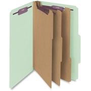 Smead Manufacturing Company Smead 19091 Gray/Green Pressboard Classification Folder with SafeSHIELD Fasteners