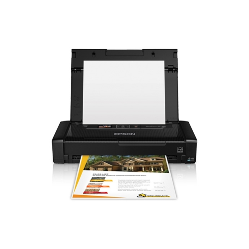 Epson Workforce 100 Portable Wireless and Airprint Enabled Inkjet Printer