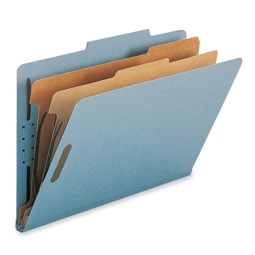 Smead Manufacturing Company Smead 19021 Blue 100% Recycled Pressboard Colored Classification Folders