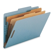 Smead 19021 Blue 100% Recycled Pressboard Colored Classification Folders