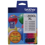 Brother LC-203 (LC2033PKS 3-Pack Tri-Colour High Yield) OEM Ink Cartridge