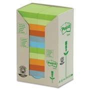 3M Post-it Pastel Rainbow Recycled Notes