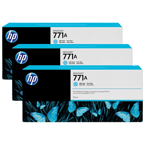 HP #771A 3-pack 775-ml LC (B6Y44A) OEM Ink Cartridge