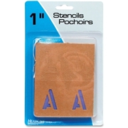 U.S. Stamp & Sign Brown Paper Letters/Numbers Stencils