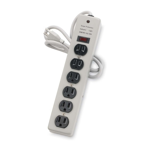 Compucessory 6 Outlets Power Strip