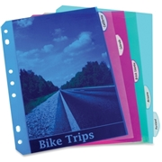 C-Line Products, Inc C-Line Mini Size 5-Tab Poly Index Dividers, Assorted Colors, 5/ST