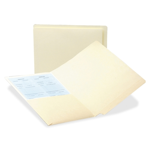 Smead Manufacturing Company Smead 24116 Manila End Tab Pocket Folder with Antimicrobial Product Protection