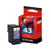 Lexmark #43 (18Y0143) OEM Ink Cartridge