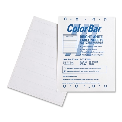 Smead ColorBar Label 02476