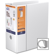 QuickFit Deluxe White Heavy-Duty File Binder