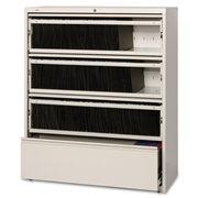Lorell Receding Lateral File with Roll Out Shelves
