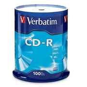 Verbatim America, LLC Verbatim 94554 CD Recordable Media - CD-R - 52x - 700 MB - 100 Pack Spindle