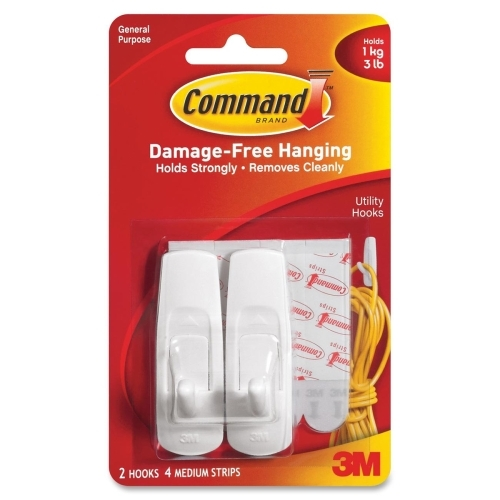 3M Reusable Command Adhesive Strip Hook