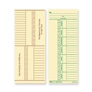 TOPS Products TOPS Named Days/Overtime Time Card