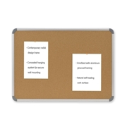 Ghent Manufacturing, Inc Ghent Cintra CTSK23 European Style Corkboard