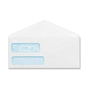 Quality Park Products Quality Park POLY-KLEAR Double-window Security Envelope
