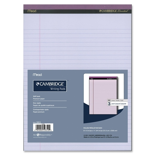 ACCO Brands Corporation Hilroy Cambridge Colored Pad