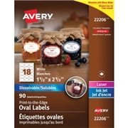 Avery® Dissolvable Print-to-the-Edge Oval Labels