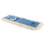 "Globe Commercial Products Globe Cotton Dust Mop 24"" X 5"" Tie-On"