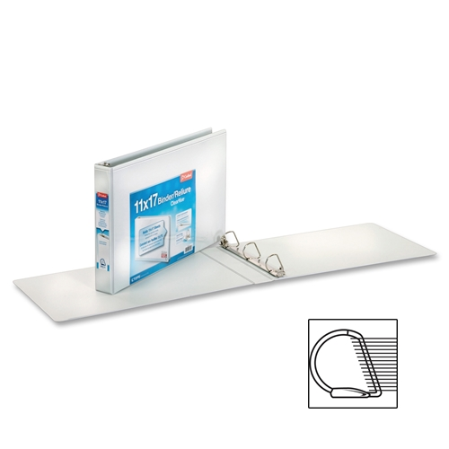 "TOPS Products Cardinal 11"" x 17"", ClearVue Slant-D Ring Binder"