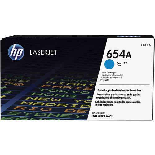 HP OEM 654A CN (CF331A) Toner Cartridge