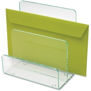 Lorell Acrylic Transp. Green Edge Mini File Sorter