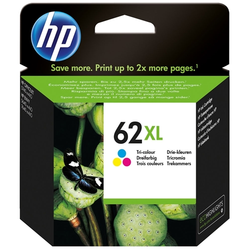 HP #62 XL CL (C2P07AN#140) OEM Ink Cartridge