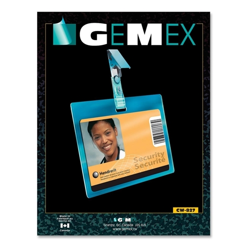 Gemex CW827 Security I.D Cards Horizontal Badge Holder