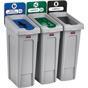 Newell Brands Rubbermaid Commercial Slim Jim 23-gallon Recycling Station