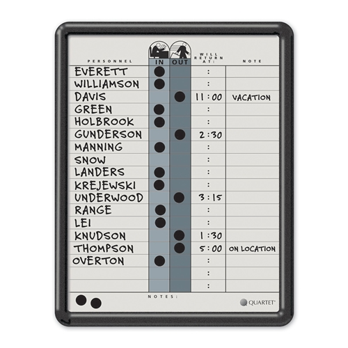ACCO Brands Corporation Quartet Classic Gray In/Out Board