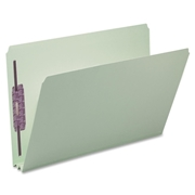 Smead Manufacturing Company Smead 19910 Gray/Green Pressboard Fastener File Folders with SafeSHIELD Fasteners