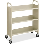 Safco Products Safco Steel 3-Shelf Single-Sided Book Carts