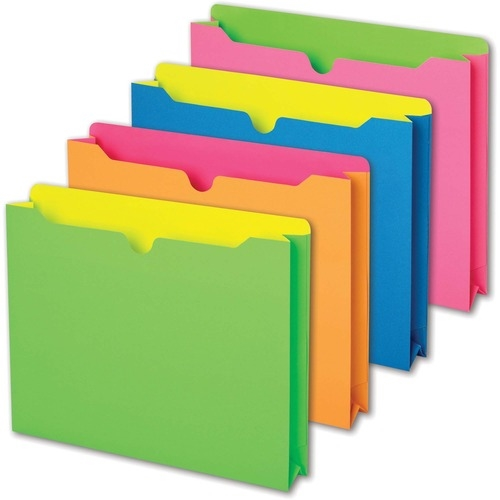 TOPS Products Pendaflex Neon File Jackets