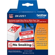Brother BK/RD on WE Continuous Length Paper Labels