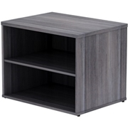 Lorell Relevance Series Charcoal Laminate Office Furniture Credenza
