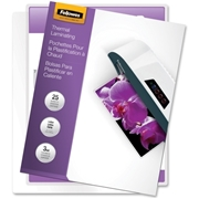 Fellowes, Inc Fellowes Glossy Pouches - Letter, 3 mil, 25 pack